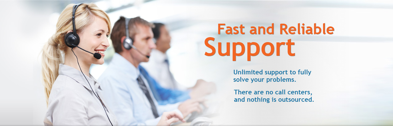 Unlimited technical support for courier software and delivery software.
