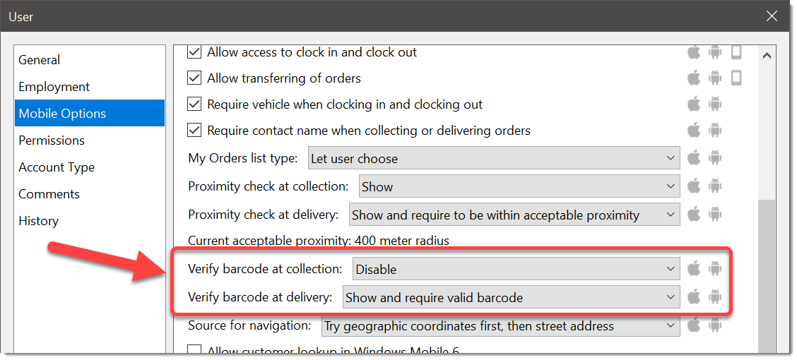 Require barcode validation on deliveries