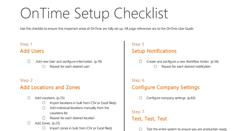 Courier dispatch software setup checklist