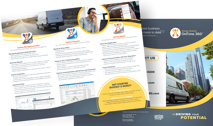 OnTime Courier Software Brochure